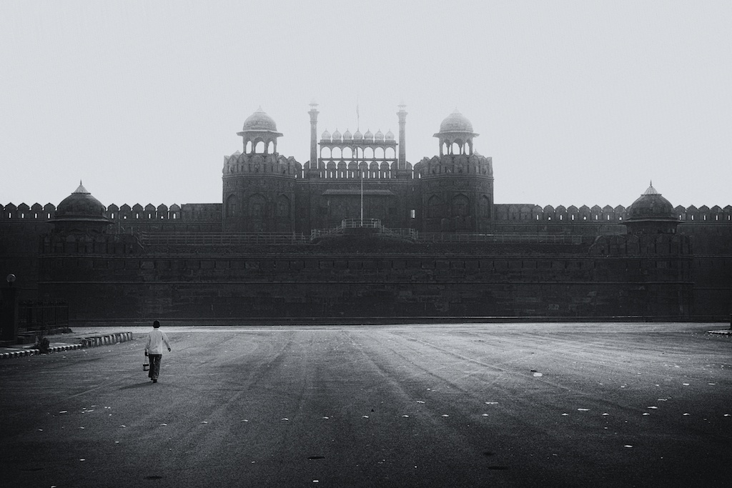 Lone boy and Lahore Gate