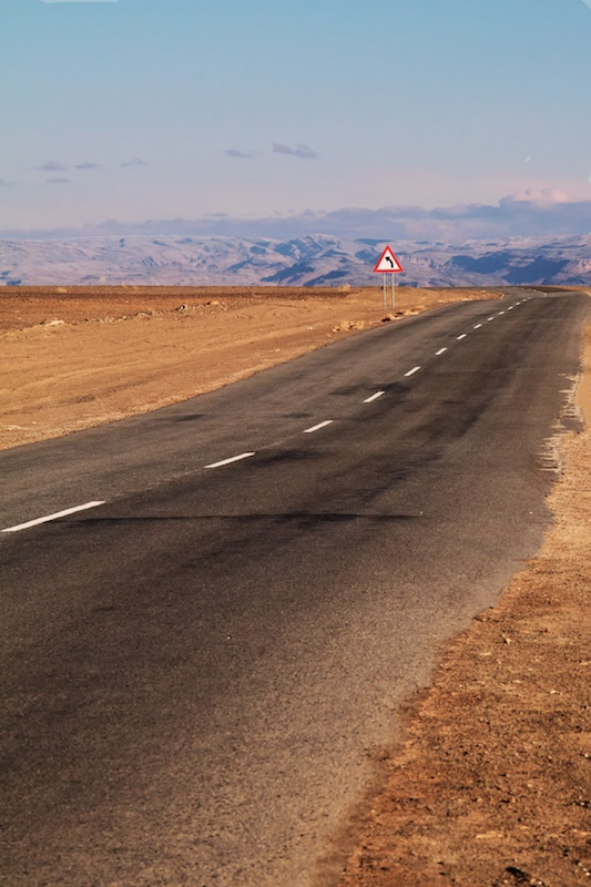 Namibian Road Turns Leftward