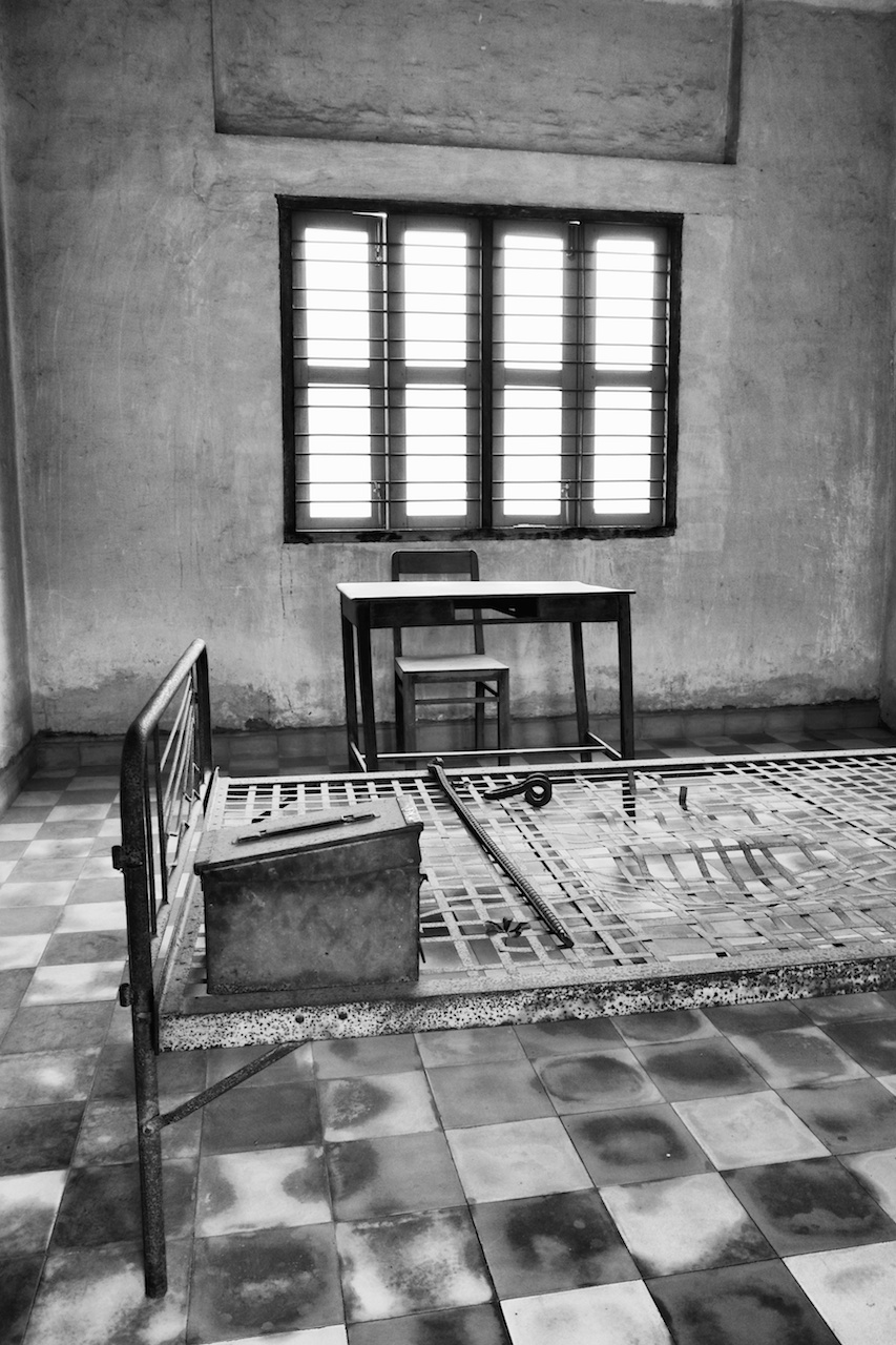 ... of the interrogation rooms at the s21 prison in phenom penh cambodia