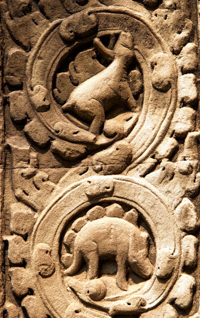 Angkor Wat Dinosaur Carvings