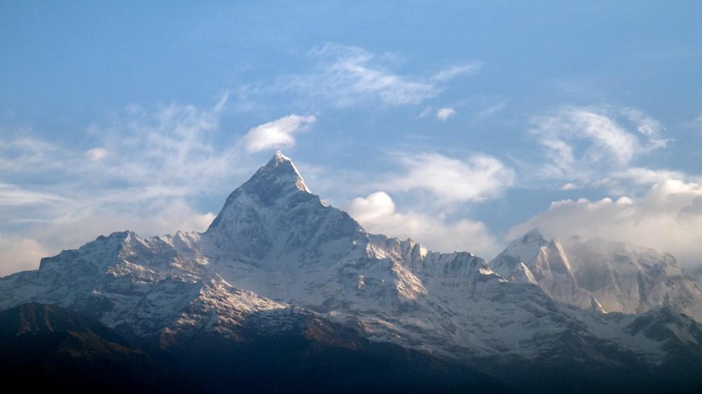 Machhapuchhre peak in the Annapurna Range
