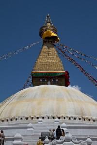 Boudhanath Stupa, one of the largest spherical stupas in the world. (Kathmandu, Nepal)