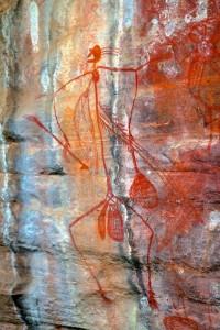 Aboriginal rock painting (Northern Territory, Australia)