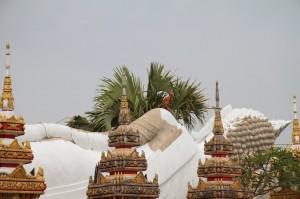 Even reclining buddhas need a little work (Vientiane, Laos)