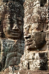 The faces of the Bayon Temple (Angkor Wat, Cambodia)