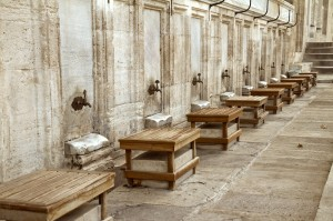 Wash stations outside Suleymaniye mosque (Istanbul, Turkey)