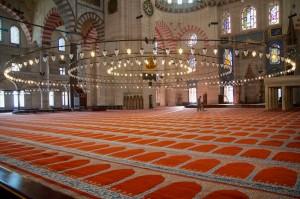 Inside the Suleymaniye mosque (Istanbul, Turkey)