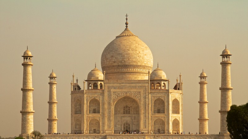 Taj Mahal in the early morning sunlight (Agra, India)